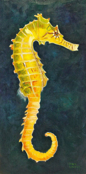 Wall Art - Painting - Seahorse by Karen Langley
