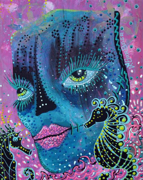 Wall Art - Painting - Seahorse Serenade by Laura Barbosa