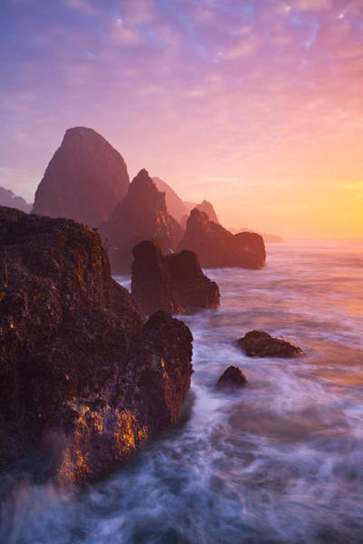 Southern Rock Photograph - Seal Rock Sunset by Darren  White
