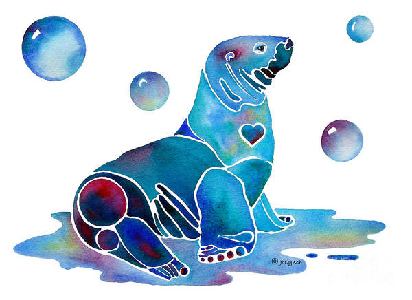 Painting - Seal Salty  by Jo Lynch