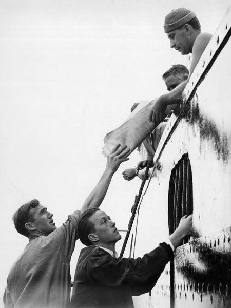 Seamen Photograph - Seamen Union Pass Strike Info by Underwood Archives