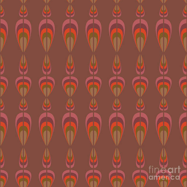 1960s Digital Art - Seamless Geometric Vintage Wallpaper by Leszek Glasner