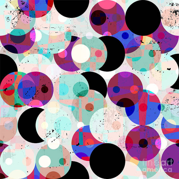 Circular Wall Art - Digital Art - Seamless Pattern Background by Kirsten Hinte