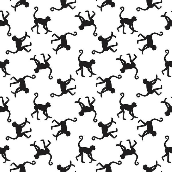 Doodle Digital Art - Seamless Pattern Background With by In dies magis