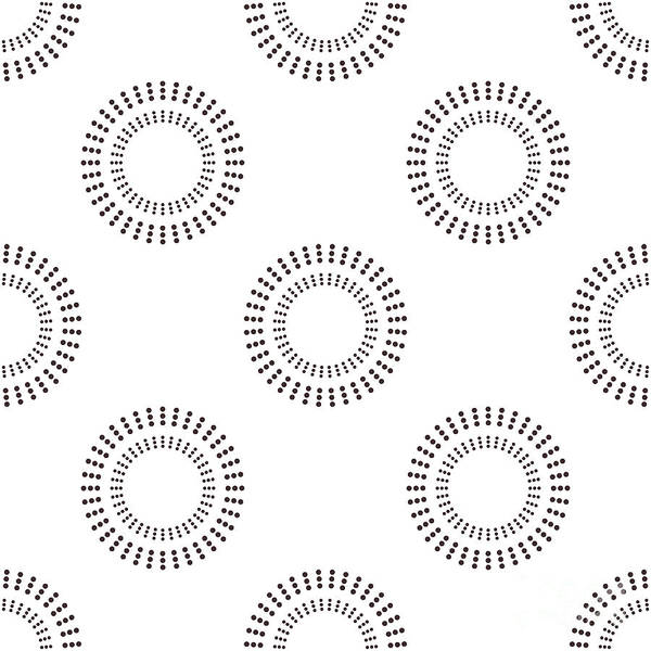 Circle Digital Art - Seamless Pattern With Circles. Vector by Brumarina