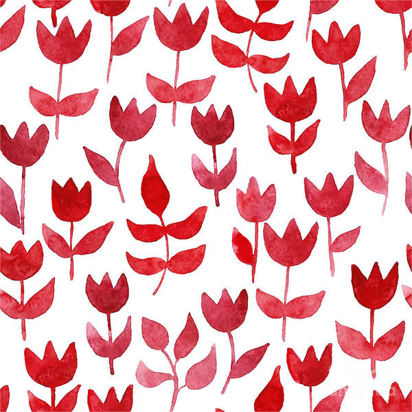 Plant Digital Art - Seamless Pattern With Watercolor by Ajgul
