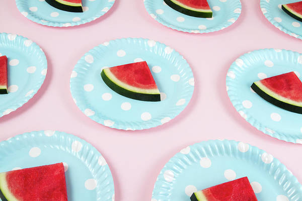 Slice Photograph - Seamless Pattern With Watermelon Slices by Anilakkus
