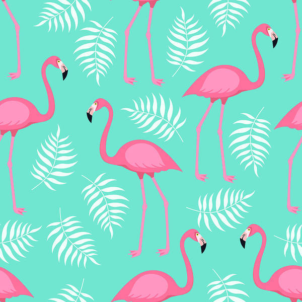No People Digital Art - Seamless Trendy Tropical Pattern With by Ekaterina Bedoeva
