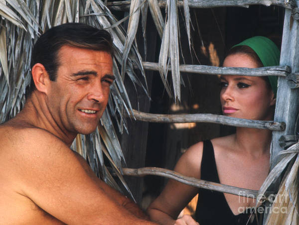 Villain Photograph - Sean Connery And Luciana Paluzzi by The Harrington Collection