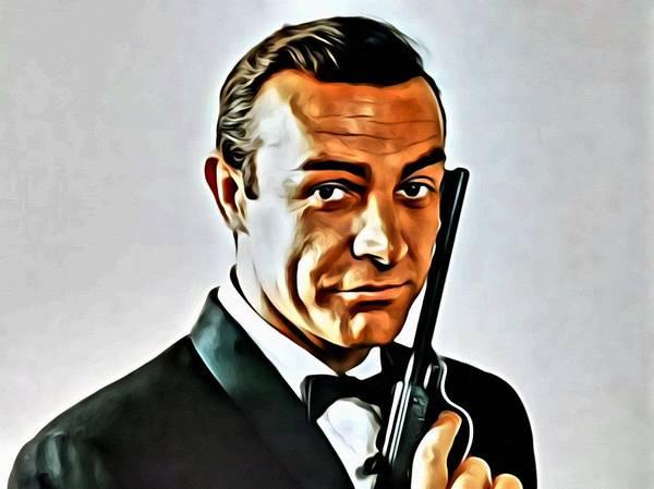 Painting - Sean Connery As James Bond by Florian Rodarte