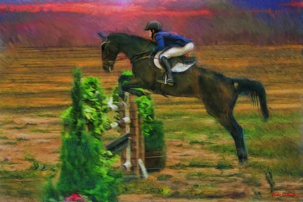 Photograph - Sean Crooks On Horse Armegedon by Blake Richards