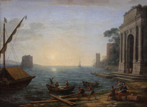 Painting - Seaport At Sunrise by Claude Lorrain