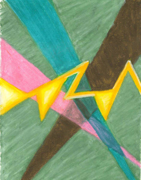 Painting - Searchlights Along A Jagged Path by Carrie MaKenna