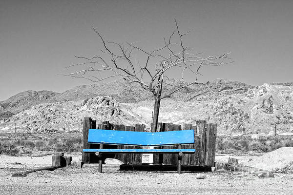 Photograph - Searles Valley Blue By Diana Sainz by Diana Raquel Sainz