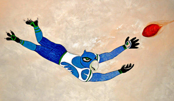 Super Bowl Drawing - Seasauce by Dominic Pangelinan