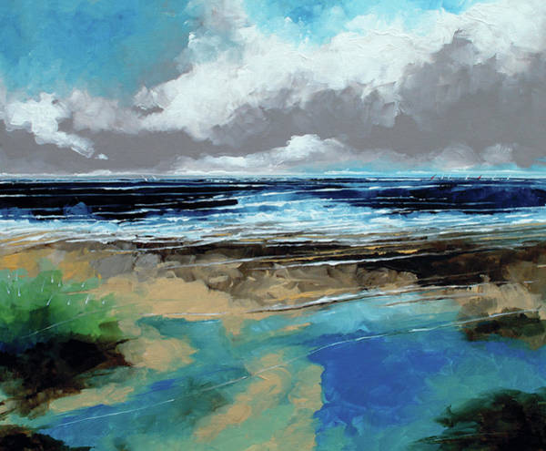 Skyscape Painting - Seascape 1 by Stuart Roy