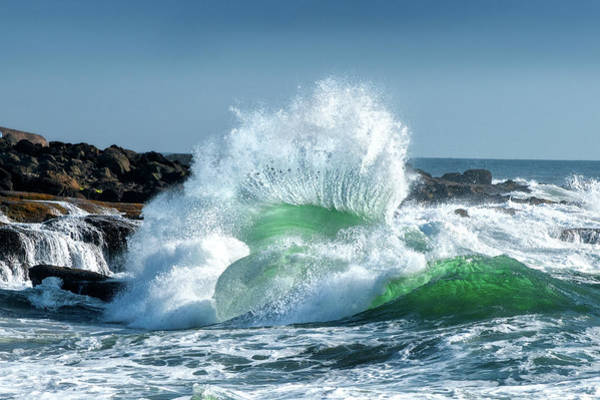 Waving Photograph - Seascape 3 by David Rothstein