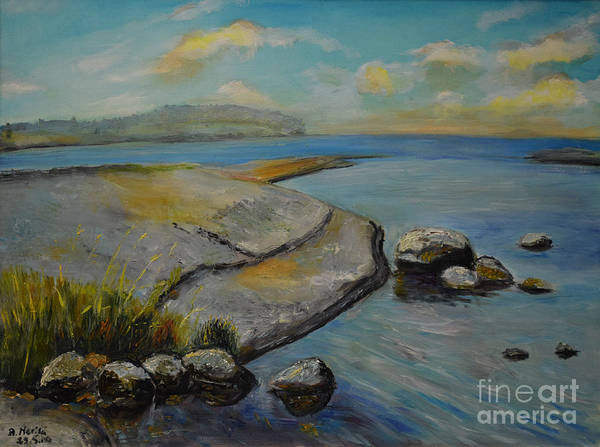 Painting - Seascape From Hamina 1 by Raija Merila