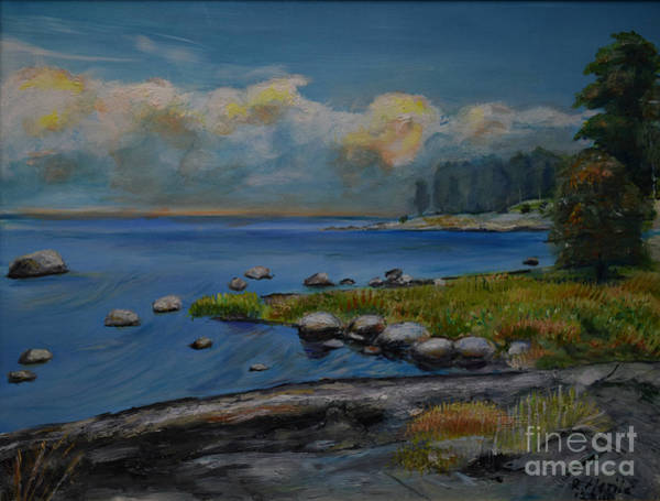 Painting - Seascape From Hamina 2 by Raija Merila