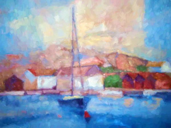 Painting - Seascape Impression by Lutz Baar