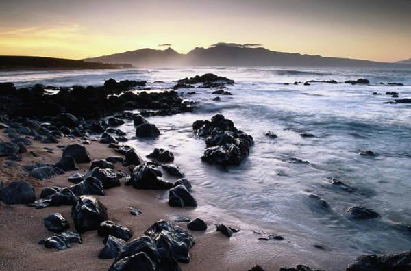Maui Photograph - Seascape Towards West Maui Mountains by Karl Lehmann