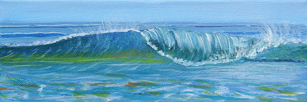 Painting - Seascape Wave I by Trina Teele