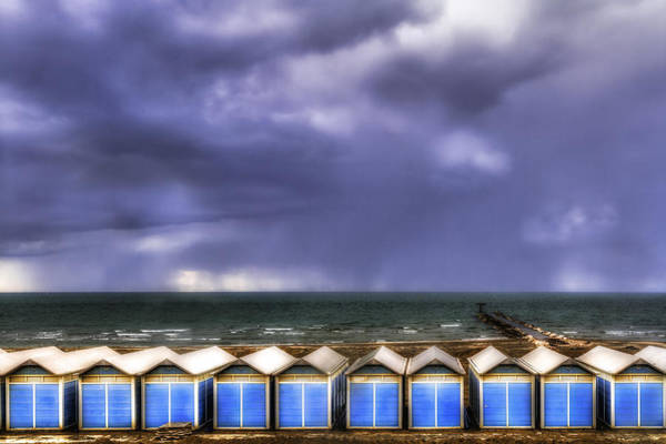 Photograph - Seascape With Bathing Huts by Roberto Pagani