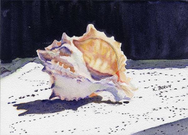 Doily Painting - Seashell 2 by Katherine  Berlin