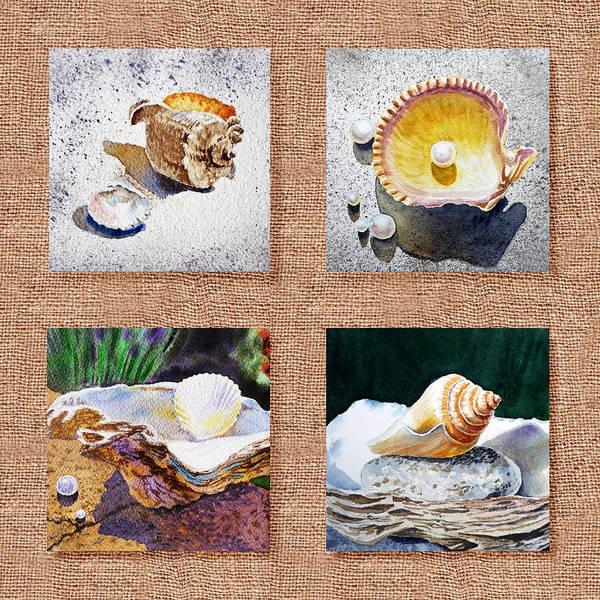 Painting - Seashell Collection I by Irina Sztukowski