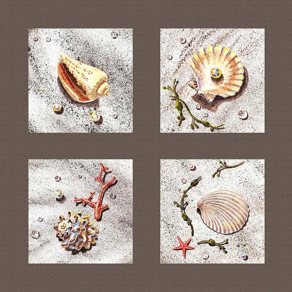 Painting - Seashell Collection IIi by Irina Sztukowski