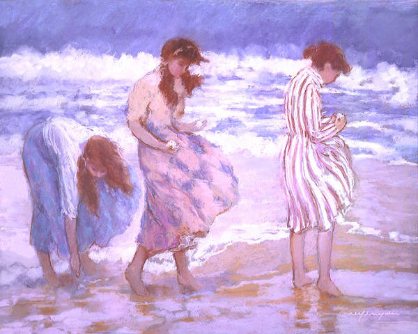Painting - Seashell Maidens by J Reifsnyder