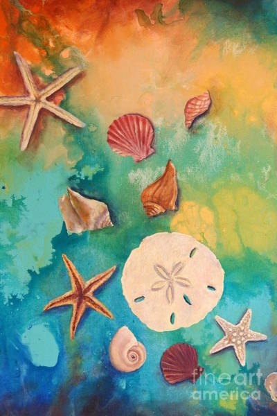 Wall Art - Painting - Seashells Fantasy by Gabriela Valencia