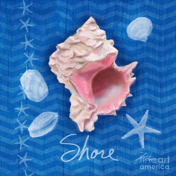 Painting - Seashells On Blue-shore by Shari Warren