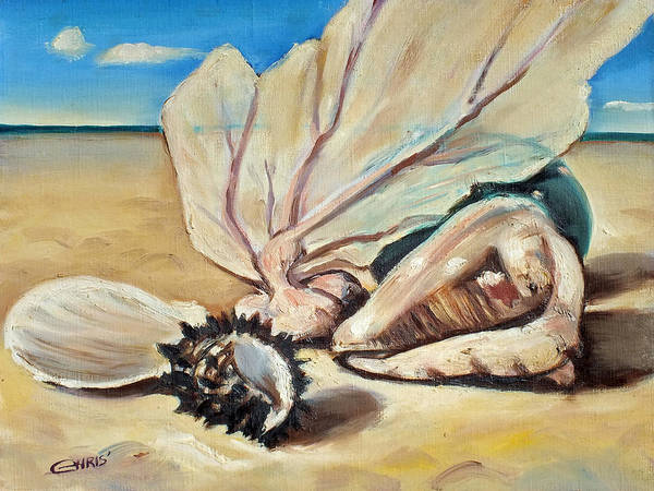 Painting - Seashore Shell Still Life by Chris McCullough