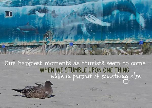 Seaside Art Gallery Quote Art Print by JAMART Photography