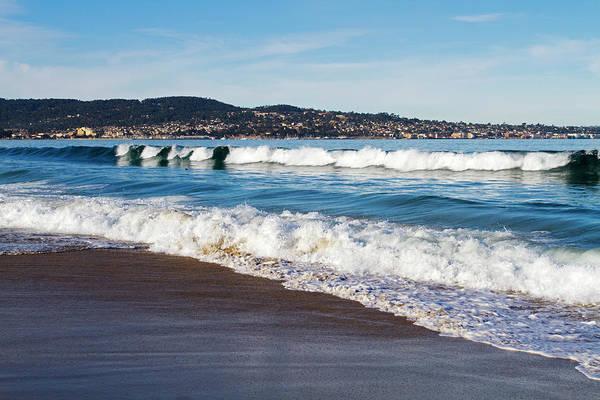Monterey Bay Photograph - Seaside Beach In California Usa by Mark Miller Photos