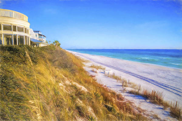Northwest Florida Painting - Seaside Beach Pastel by Five Star Photographics