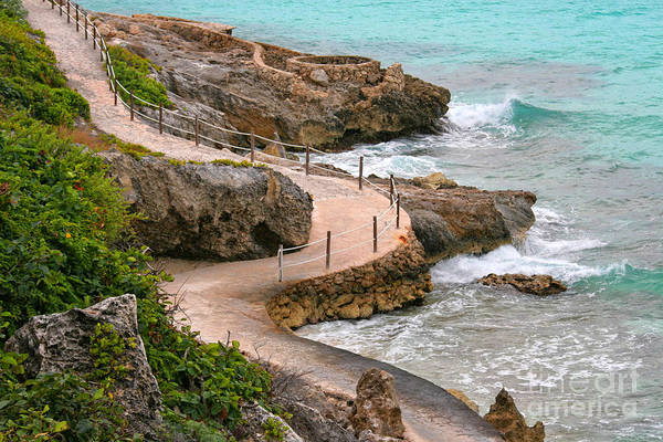 Isla Mujeres Photograph - Seaside Path by Charline Xia