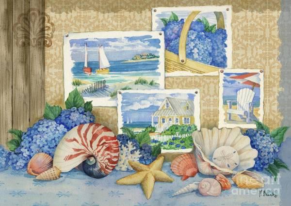 Seaside Sketchbook Art Print