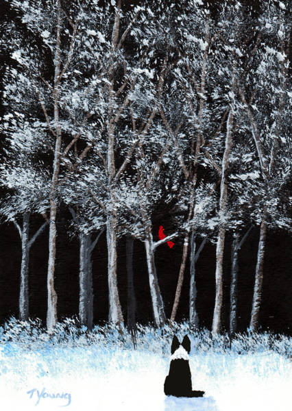 Border Collie Painting - Season Wish by Todd Young