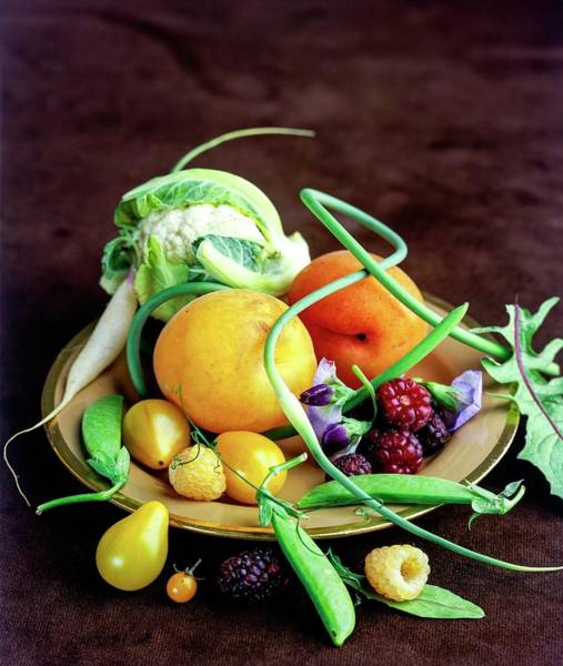 Green Berry Photograph - Seasonal Fruit And Vegetables by Romulo Yanes