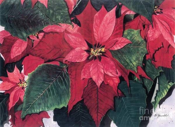Wall Art - Painting - Seasonal Scarlet 2 by Barbara Jewell