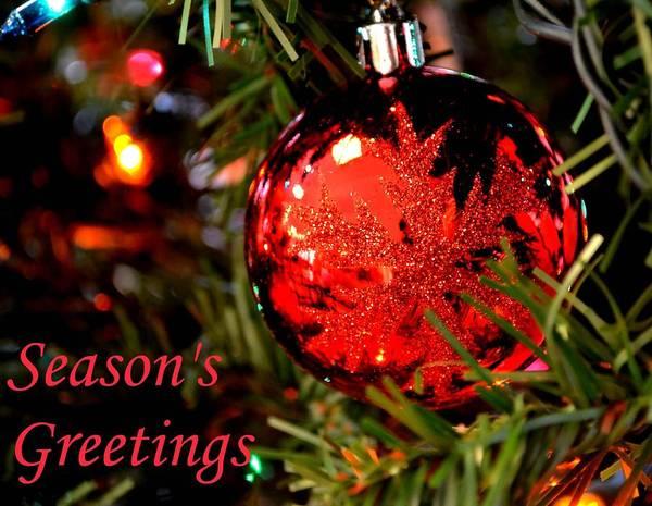 Jolly Holiday Photograph - Season's Greetings by Deena Stoddard
