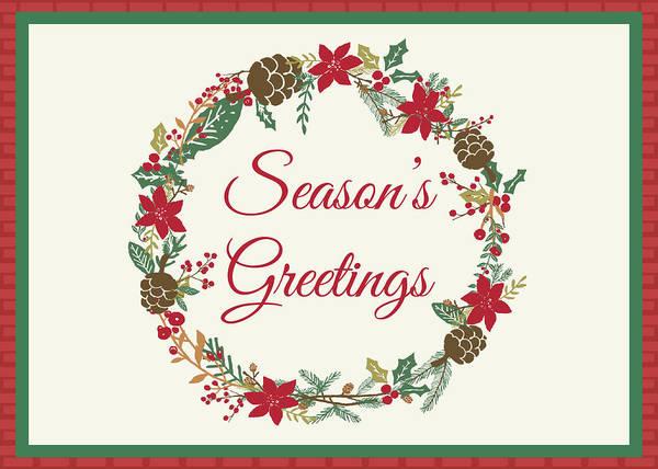 Yule Digital Art - Season's Greetings Holiday Card by Jaime Friedman