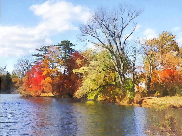 Photograph - Seasons - House By Lake In Autumn by Susan Savad