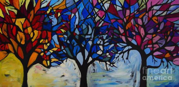 Samantha Painting - Seasons by Samantha Black