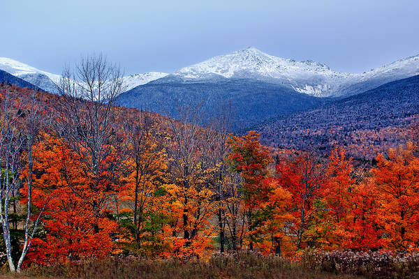 Juxtaposition Photograph - Seasons' Shift #2 - Mount Washington - White Mountains by Nikolyn McDonald