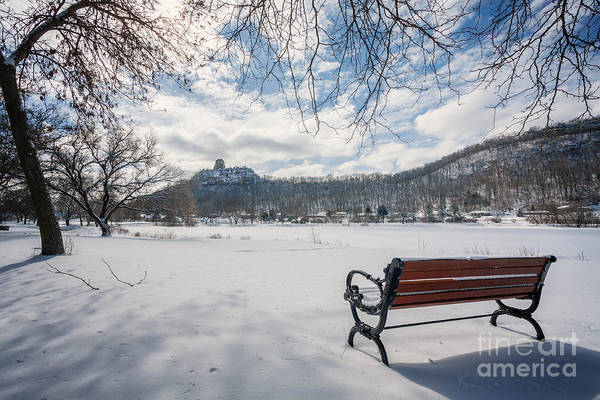 Photograph - Seat With A View Winter by Kari Yearous