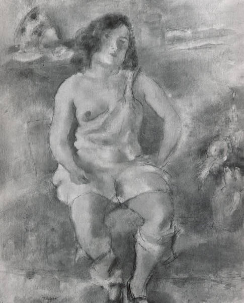 Central America Painting - Seated Model by Jules Pascin