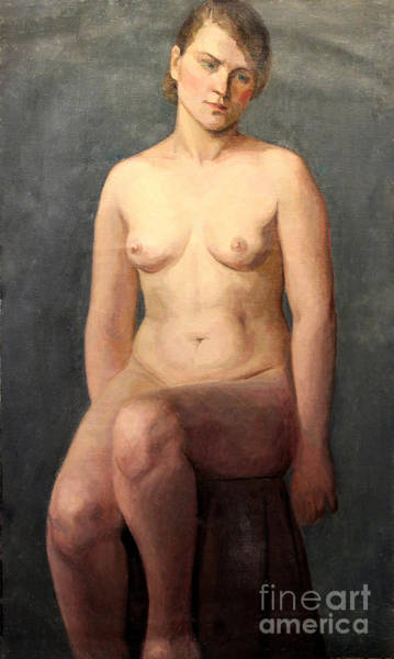 Painting - Seated Nude 1926 by Art By Tolpo Collection
